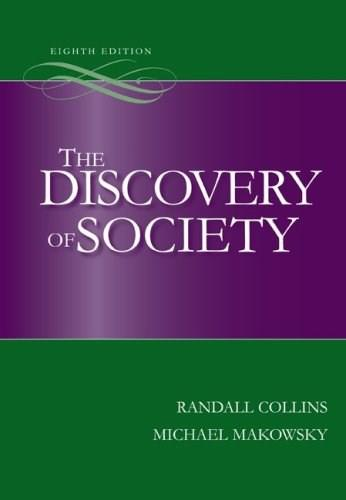 The Discovery of Society, 8th Edition 9780073404196