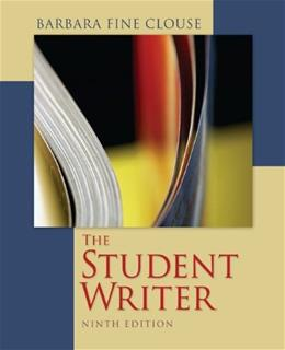 Student Writer, by Clouse, 9th Edition 9780073405902