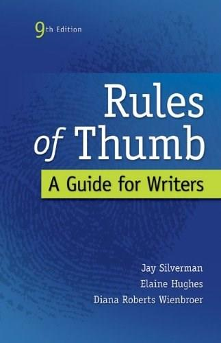 Rules of Thumb, by Silverman, 9th Edition 9780073405964