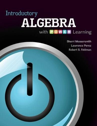 Introductory Algebra with P.O.W.E.R. Learning, by Messersmith 9780073406268