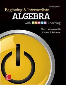 Beginning and Intermediate Algebra with Power Learning, 4th Edition 9780073512914
