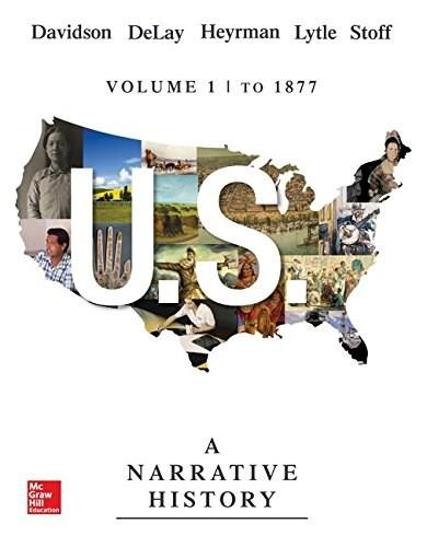 US: A Narrative History Volume 1: To 1877 9780073513300