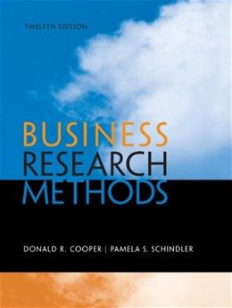 Business Research Methods, 12th Edition 9780073521503