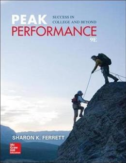 Peak Performance: Success in College and Beyond 9 9780073522487