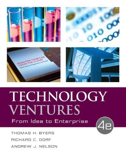 Technology Ventures: From Idea to Enterprise 4 9780073523422