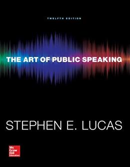 The Art of Public Speaking (Communication) Standalone Book 12 9780073523910