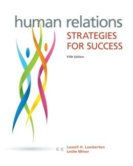 Human Relations: Strategies for Success 5 9780073524689