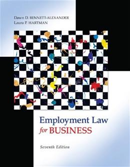 Employment Law for Business, by Bennett-Alexander, 7th Edition 9780073524962