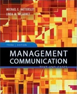 Management Communication: Principles and Practice 3 9780073525051