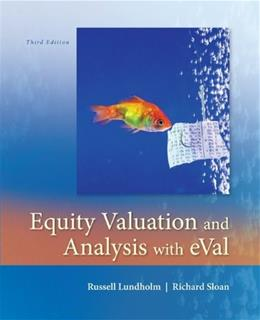 Equity Valuation and Analysis w/eVal (Irwin Accounting) 3 9780073526898