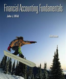 Financial Accounting Fundamentals, by Wild, 3rd Edition 9780073527048