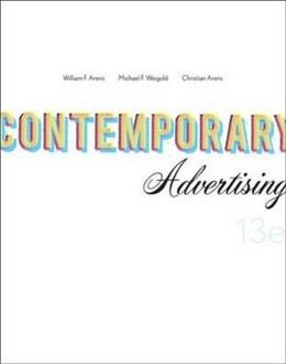 Contemporary Advertising, by Arens, 13th Edition 9780073530031