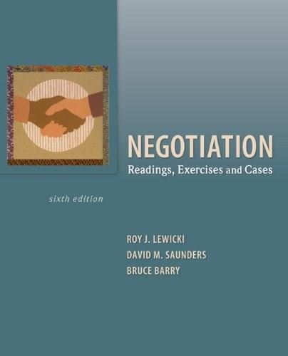 Essentials of Negotiation (Irwin Management) (6th Edition) [GLOBAL PAPERBACK] 9780073530314