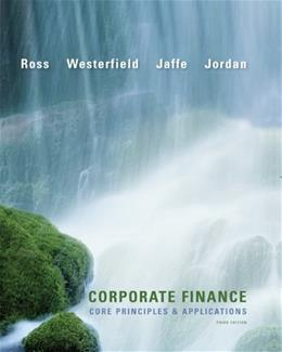 Corporate Finance, by Ross, 3rd Edition 9780073530680