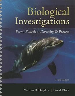 Biological Investigations, by Dolphin, 10th Edition, Lab Manual 9780073532264