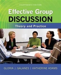 Effective Group Discussion: Theory and Practice 14 9780073534343