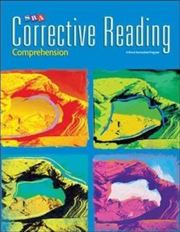 Corrective Reading Comprehension B1: Teacher Materials Package, by Engelmann PKG 9780076111794