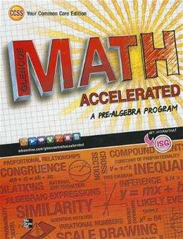 Math Accelerated, by Glencoe McGraw-Hill 9780076637980