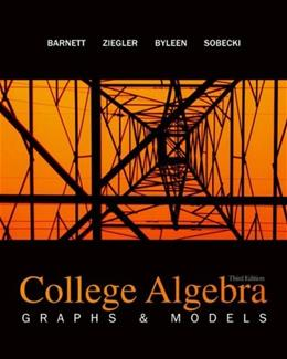 College Algebra: Graphs and Models 3 9780077221287