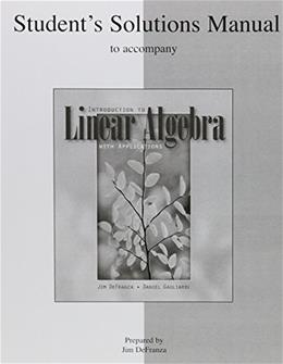 Introduction to Linear Algebra, by Defranza 9780077239596
