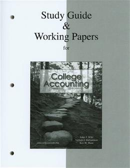 College Accounting, by Wile, 2nd Edition, Chapters 1-14, Study Guide and Working Papers 9780077268855