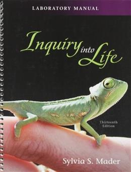 Inquiry into Life, by Mader, 13th Edition, Lab Manual 9780077297435