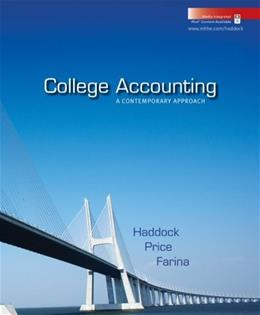 College Accounting: A Contemporary Approach, by Haddock PKG 9780077305079