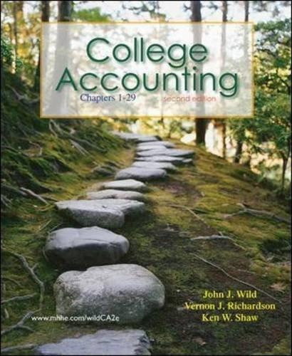 College Accounting, by Wild, 2nd Edition, Chapters 1-29 2 PKG 9780077346096