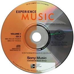 Experience Music, by Charlton, 3rd Edition, Volume 1, Audio CD Set 3 CD-ROM 9780077412234
