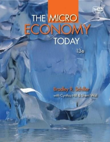 Micro Economy Today, by Schiller, 13th Edition 9780077416539