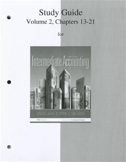 Intermediate Accounting, by Spiceland, 7th Edition, Volume 2, Study Guide 9780077446444