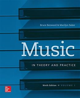 Music in Theory and Practice, by Benward, 9th Edition, Volume 1, Workbook 9780077493318