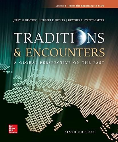 Traditions & Encounters Volume 1 From the Beginning to 1500 6 9780077504908