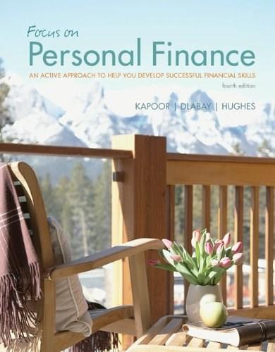 Focus on Personal Finance, by Kapoor, 4th Edition, ACCESS CODE ONLY 4 PKG 9780077506957
