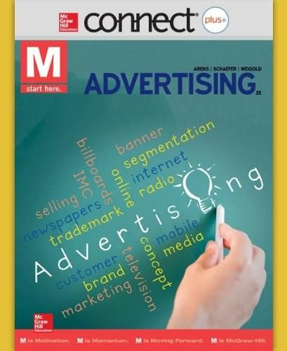 Connect Plus Marketing for M: Advertising, by Arens, 2nd Edition, Access Code Only 2 PKG 9780077508043