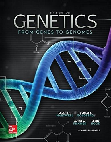 Genetics; From Genes to Genomes, by Hartwell, 5th Edition 9780077515072
