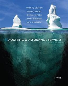 Auditing & Assurance Services, by Louwers, 5th Edition 5 w/CD 9780077520168