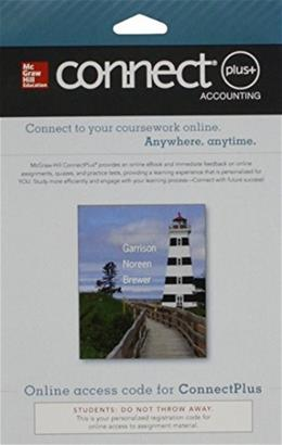 Managerial Accounting, by Garrison, 15th Edition, ACCESS CODE ONLY 15 PKG 9780077522858