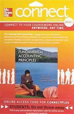 Fundamental Accounting Principles, by Wild, 21st Edition, ACCESS CODE ONLY 21 PKG 9780077525088