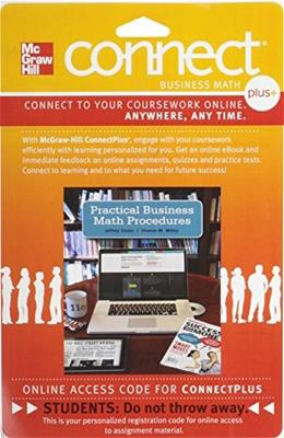 Connect Plus Business Math for Practical Business Math Procedures, by Slater, 11th Edition, Access Code Only 11 PKG 9780077533847