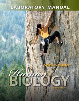 Human Biology, by Mader, 13th Edition, Lab Manual 9780077596026