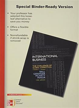 International Business, by Ball PKG 9780077606138