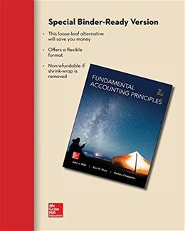 Fundamental Accounting Principles, by Wild, 22nd Edition 9780077632977
