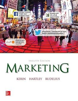 Marketing, by Kerin, 12th Edition 9780077635787