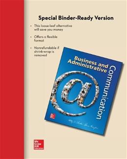 Business and Adminstrative Communication, by Locker, 11th Edition 9780077637170