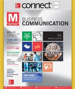 Rentz Business Communication, by Rentz, 3rd Edition, 1 Semester Access Card Only 3 PKG 9780077637248
