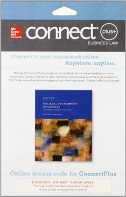 Connect Plus Legal Environment for Legal Environment of Business: A Managerial Approach, by Melvin, 2nd Edition, Access Code Only 2 PKG 9780077638443