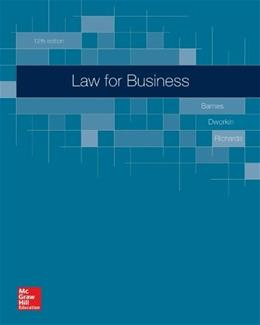 Law for Business, by Barnes, 12th Edition 9780077638986