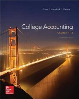 College Accounting (Chapters 1-13) 14 9780077639914