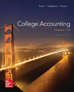 College Accounting: Chapters 1-24, by Price, 14th Edition 9780077639921